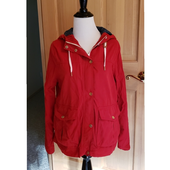 FOREVER 21 Women's Small Red Hooded Jacket